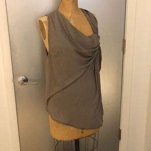 Helmut Lang asymmetrical draped top